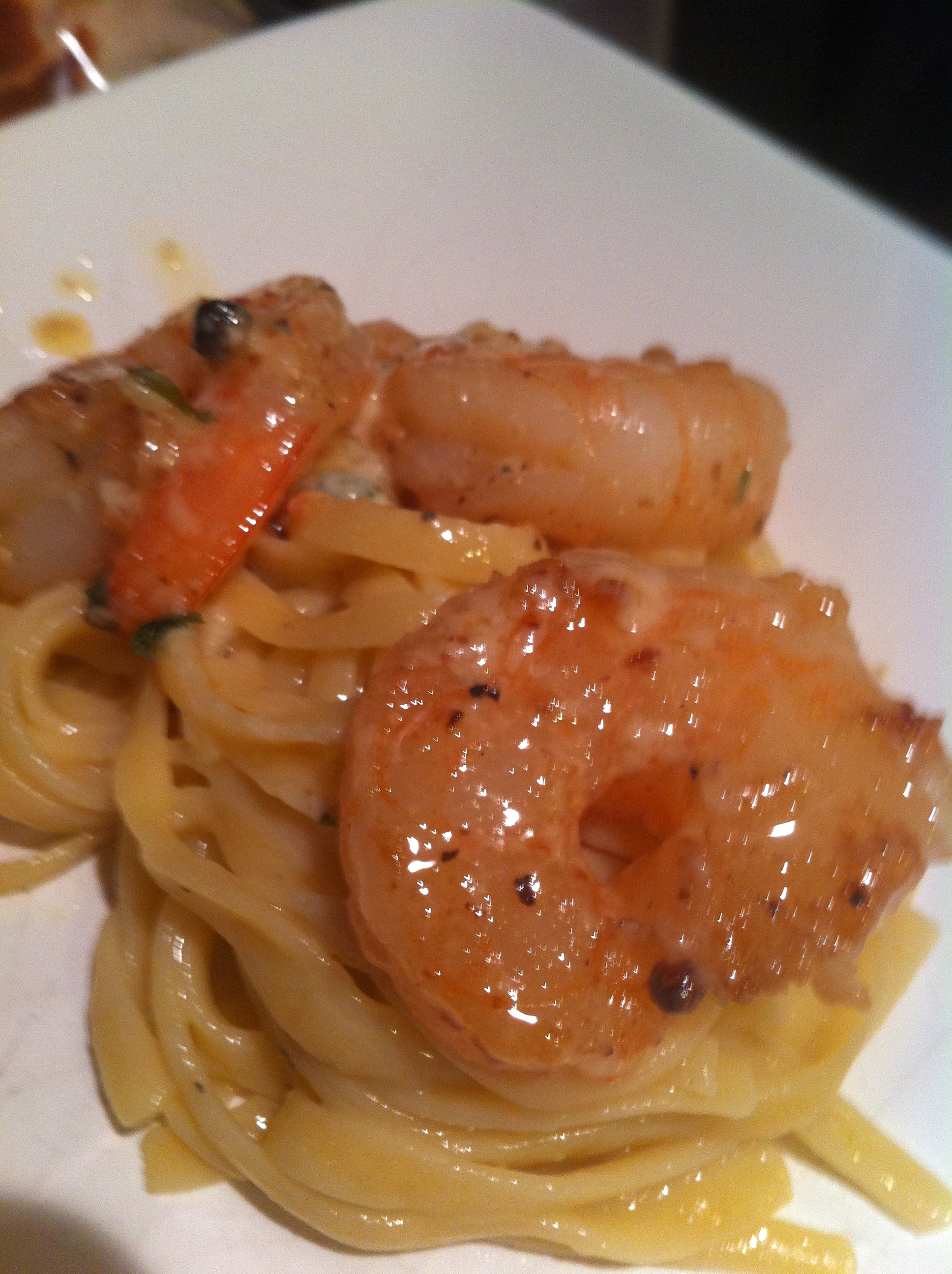 Shrimp and Gorgonzola Cream Sauce Pasta | The Hunting Chef