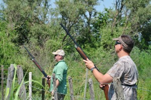 Reed and I shooting Dave's left over birds