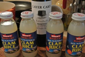 This is what the clam juice looks like.