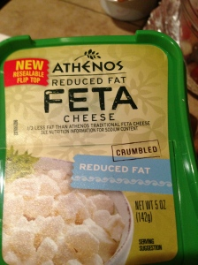 I even used reduce fat Feta