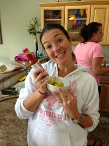Contestant 3 with her Secret Butter Sauce.