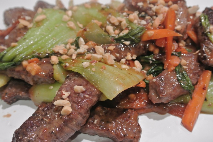 Venison and Bok Choy Stir Fry