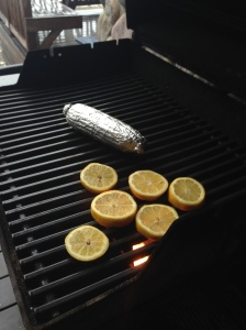 I also notice Ben has slices of lemon he is carmelizing on the bbq.  Interesting, what is he up too?