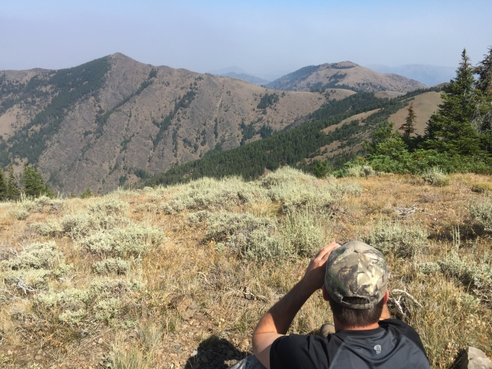 Looking across to Moon Mountain. Cody was 4 miles straight across and Thad to our right around 2 miles.